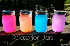 Mood Jars / 20 After-School Activities That Are Actually Fun Crafts To Do, Crafts For Kids, Arts And Crafts, Mason Jar Crafts, Mason Jars, Craft Projects, Projects To Try, Summer Crafts, My New Room