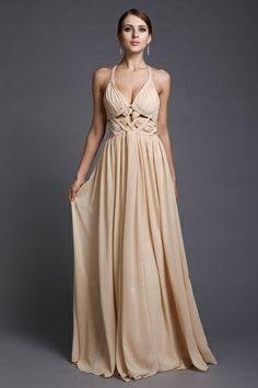 Durchlöcherndes V-Neck Empire plaiting Chiffon Evening Dress