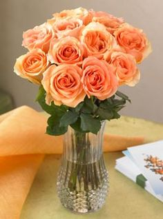 Next to cherry blossoms and petunias, peach roses are my favorite. Had them in my wedding bouquet.