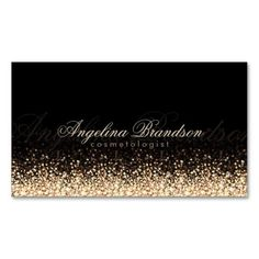 """Shimmering Gold Cosmetologist Damask Black Card. Fabulous business cards. Don't miss opportunity to get it. Original. Sold only on Zazzle! Professional business card. The design is unique. Show your style with this sleek and fully customizable product. You can customize this designs yourself. Click on the """"Customize It"""" to your right. If you need HELP with customization, please do not hesitate to contact me with your requirements."""
