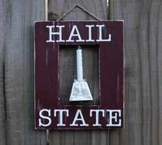 Cowbell Mississippi State Decor Wall Art Sign / MSU Bulldogs Cowbell by MaroonLove on Etsy https://www.etsy.com/listing/245204674/cowbell-mississippi-state-decor-wall-art