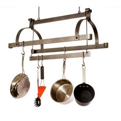 Looking for Enclume HS Three Bar Rack ? Check out our picks for the Enclume HS Three Bar Rack from the popular stores - all in one. Pot Rack Hanging, Hanging Pots, Cookware Set, Bar Rack, Wall Bookshelves, Steel Bar, Kitchen Storage, Kitchen Redo, Gourmet