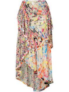 JASON WU Printed Asymmetric Skirt. #jasonwu #cloth #skirt