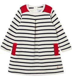 PETIT BATEAU Sailor striped dress 3-36 months (Coquille/abysse