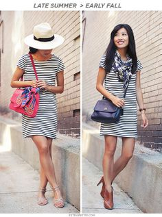 Striped Shift Dress5 by PetiteAsianGirl, via Flickr