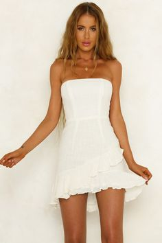 Worth Watching Lace Up Dress White | Hello Molly | Hello Molly USA