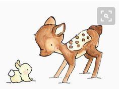 Зайчонок и оленёнок