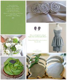 Green & grey silhouettes theme