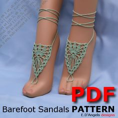 Hey, I found this really awesome Etsy listing at https://www.etsy.com/listing/161619895/barefoot-sandals-pattern-crown