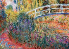 Le Pont Japonais by Claude Monet - High quality British made wooden jigsaws with unique whimsy pieces, direct from Wentworth Wooden Puzzles. Claude Monet, Caricature Artist, Wooden Jigsaw, Classic Paintings, Poster Prints, Art Prints, Painting Edges, Stretched Canvas Prints, Painting Techniques