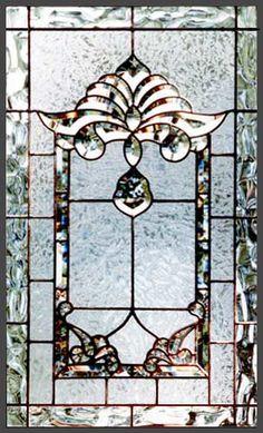 Leaded Glass Beveled Window