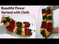 క్లాత్ తో పూల దండలు ఇలా చేసుకోవచ్చు|| Fabric Garland || Flower Garland Making with Cloth - YouTube Cloth Flowers, Plastic Flowers, Felt Flowers, Diy Flowers, Fabric Flowers, Cloth Garland Diy, Fabric Garland, How To Make Garland, Garland Making