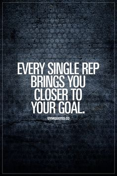 Every single rep brings you closer to your goal.  #onemorerep #trainharder #gymmotivation