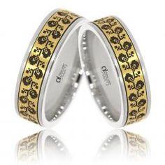 Verighete Lux Varvara aur alb cu galben Aur, Gemstone Rings, Wedding Rings, Engagement Rings, Gemstones, Jewelry, Rings, Enagement Rings, Jewlery