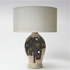 Georges Pelletier; Glazed Ceramic Table Lamp, c1960.