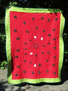 Watermelon quilt Shared by www.nwquiltingexpo.com @nwquiltingexpo #nwqe #quilting
