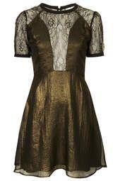 **Chiffon and Lace Dress by WYLDR