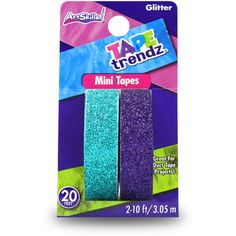 ArtSkills Tape Trendz Teal & Purple Glitter Mini Duct Tape