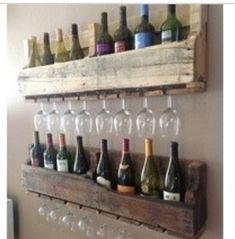 Meas idea. Cool wall decor for billiards room.  Great idea to hang extra wine glasses that are in storage as well.