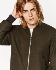 CLOTH BOMBER JACKET- zara- ton heukels male model