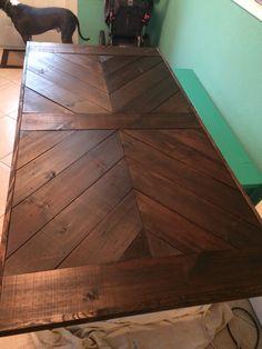 Sitton Pretty Furniture & Design- Outdoor Chevron farmhouse table