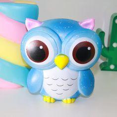Galaxy owl squishy and jumbo marshmallow squishy #squishy #squishies #owl #marshmallow #ambicyoutube #kawaii #cute