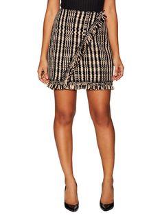 Cashmere Fringe Mini Skirt by Dior at Gilt