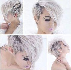 Snowqueens opgelet! Deze 10 korte modellen in ijzig koude wit en grijs tinten zijn de perfecte look voor jullie! - Kapsels voor haar