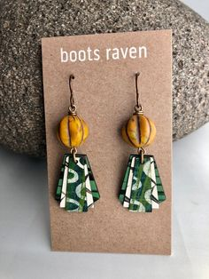 Birch Wood Earrings / Hand Painted / Sustainable Wood /   Etsy Wood Earrings, Simple Earrings, Simple Jewelry, Jewelry Art, Jewelry Gifts, Handmade Jewelry, Shipping Envelopes, Acrylic Art, Birch
