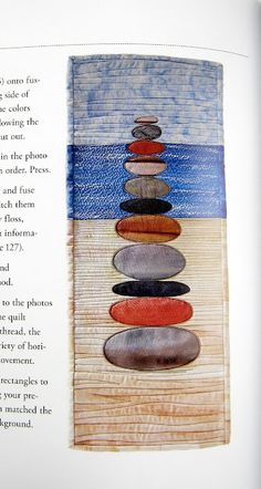 pebble stack wallhanging idea