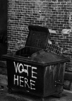 """ Voter ici."" / Election ou illusion... / Street art."