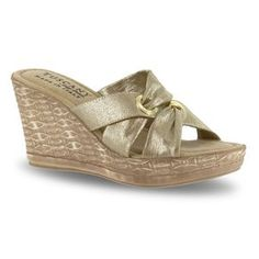 Tuscany by Easy Street Solaro Women's Wedge Sandals, Size: 8 Ww, Gold Indian Bridal, Tuscany, Wedge Sandals, Sunnies, Outfit Of The Day, Wedges, Stylish, Easy, Shoes