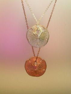 sand dollar pendants - KiraKira by Suzanne Somersall