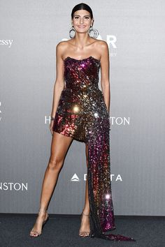 "Giovanna Battaglia in Halpern. Meet the man behind her spectacular dress [link url=""http://www.vogue.co.uk/article/michael-halpern-know-about-designer""]here[/link]."