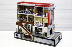 LEGO recreation of the Ghostbusters HQ