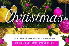Hand Drawn Christmas: Vintage + Glam illustration pack. perfect for printables, holiday cards, designs and illustrations! extended use allowed!