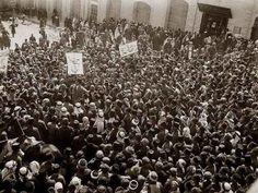 Demonstration against Zionist colonization/British rule, 1920