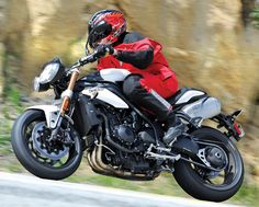 2011 Triumph Speed Triple 1050 ABS, featured in the August 2011 issue of Rider magazine.