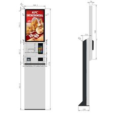 24 inch self service checkout kiosk capacitive touch 10 point touch screen ordering kiosk Signage Design, Cafe Design, 10 Points, Self Service, Display Design, Kiosk, Product Design, Lighting Design, Ticket