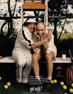 got milk agassi | got milk? Andre Agassi and his mother magazine ad - Ad#: 2432787 ...