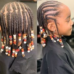 One of my little sweet clients🥰🥰 I love kid braids and beads! Don't stop… One of my little sweet clients🥰🥰 I love kid braids and beads! Black Toddler Girl Hairstyles, Little Girls Natural Hairstyles, Toddler Braided Hairstyles, Lil Girl Hairstyles, Protective Hairstyles, Protective Styles, Toddler Braid Styles, Little Girl Braid Styles, Little Girl Braids