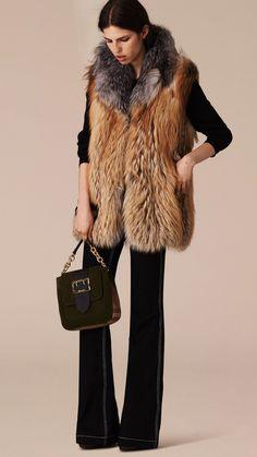 Fox Fur Gilet   Burberry