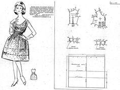 FREE Vintage 50s Style Dress Sewing Draft Pattern