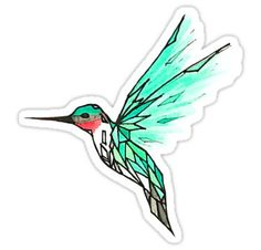 Glass Bird Sticker