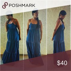 Dresses Spaghetti strap denim dress, nice and flowy.  light weight  material not heavy at all. Dresses Maxi
