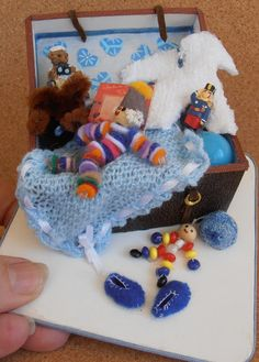 dolls houses and minis: How to Make a Miniature Memory Trunk: Part One