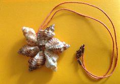 Un fiore di mare. Creazione con conchiglie di mare.