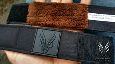 Here comes the first 'all black' Hufschmid string muter crafted from black CORDURA® which is a high tenacity fiber technology waterproof canvas fabric used in military applications, combined to the best velcro money can buy and a high end tactical logo ! Guitar Picks, Canvas Fabric, Fiber, Military, Technology, 3d, Money, Wallet, Logo