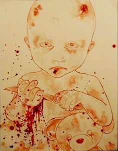 """Maxime Taccardi (Artworks) """" With love-painted with my blood"""",  Maxime Taccardi."""