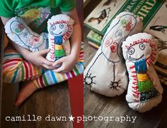 Child's Art Turned Into a Softie | Lesson Plans | CraftGossip.com